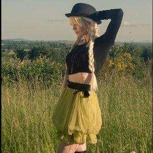 NWT Forever 21 Twist Tulle tutu Neon Circus Skirt